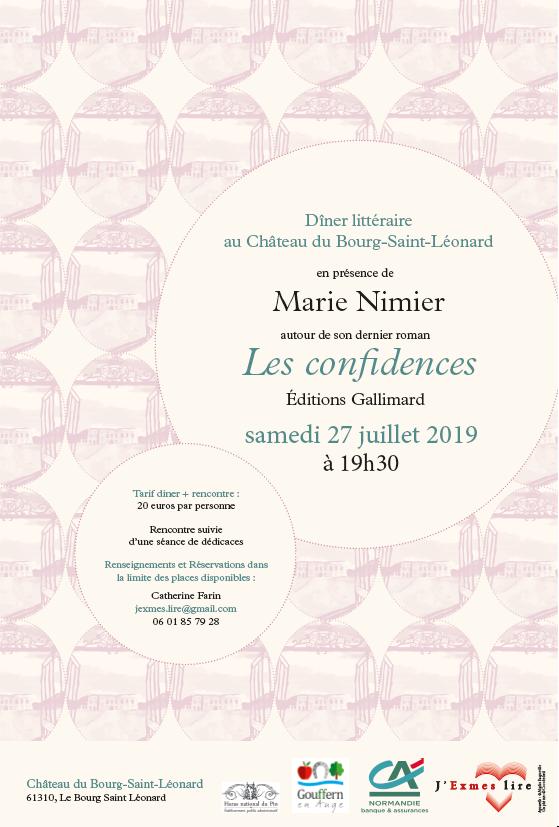Marie Nimier Les confidences J'exmes Lire